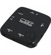 Картридер CBR CR-505 (Multi Card Reader + Hub, USB 2.0)